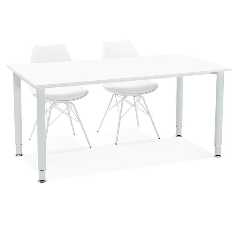 Desk Table Modern Meeting 80 X 160 Cm Lorenzo White Wood Design And Contemporary Desks