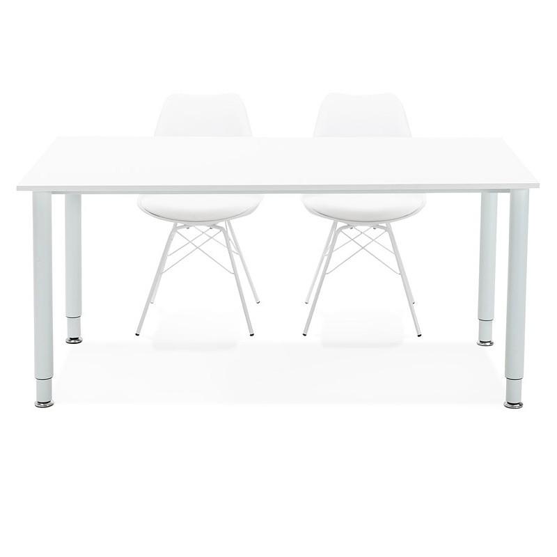 Bureau table de réunion moderne (80x160 cm) LORENZO en bois (blanc) - image 40169