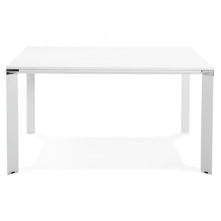 Schreibtisch Tisch moderne Tagungsräume (140 x 140 cm) RICARDO aus Holz  (weiß) - AMP Story 5801