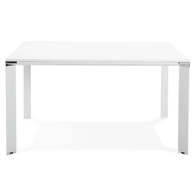 Desk Table Modern Meeting 140 X 140 Cm Ricardo Wooden White Design And Contemporary Desks