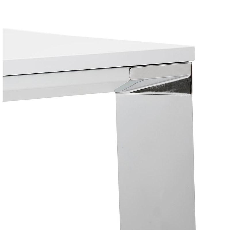 Bureau table de réunion moderne (140x140 cm) RICARDO en bois (blanc) - image 40194
