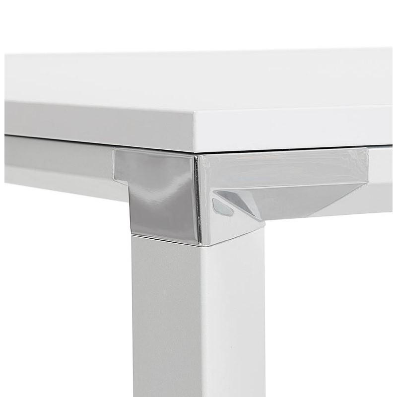 Bureau table de réunion moderne (140x140 cm) RICARDO en bois (blanc) - image 40196