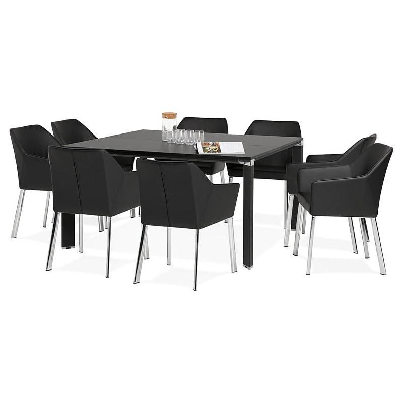 Bureau table de réunion moderne (140x140 cm) RICARDO en bois (noir) - image 40214