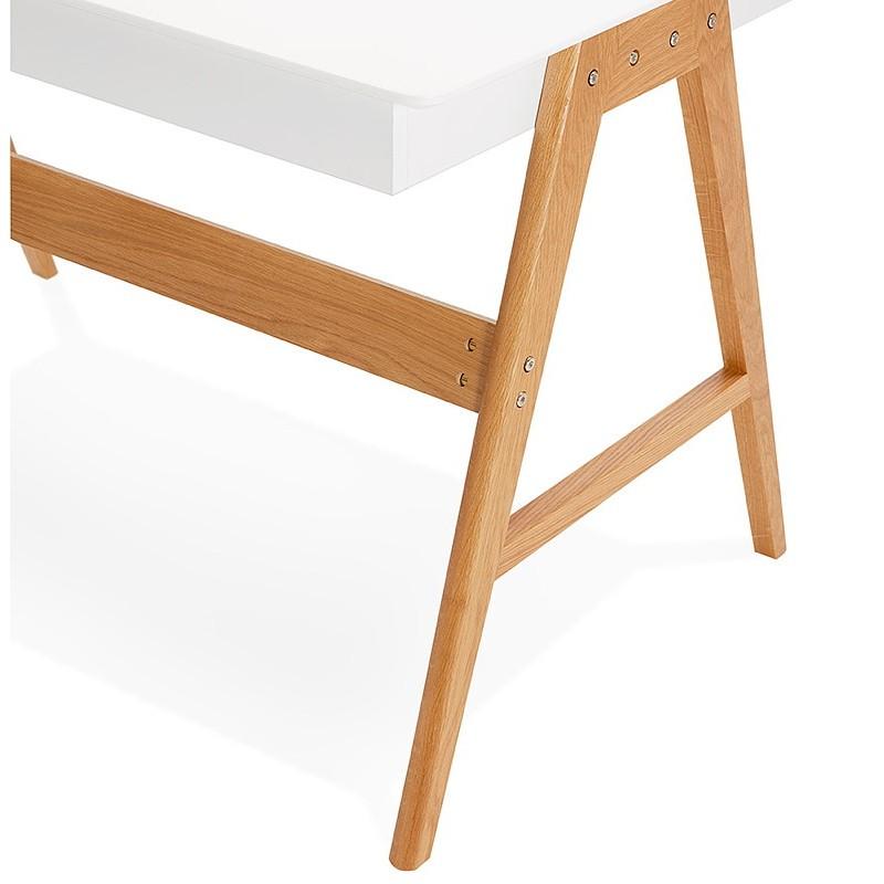 Bureau droit scandinave ELOISE en bois (blanc mat) - image 40223
