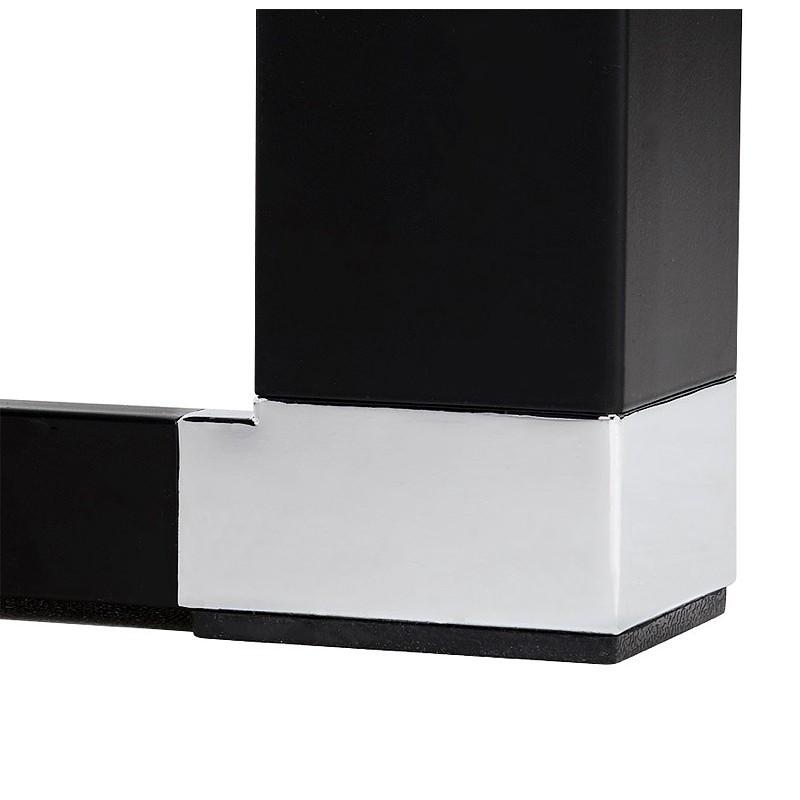 Bureau droit design BOUNY en bois pieds noirs (naturel) - image 40247