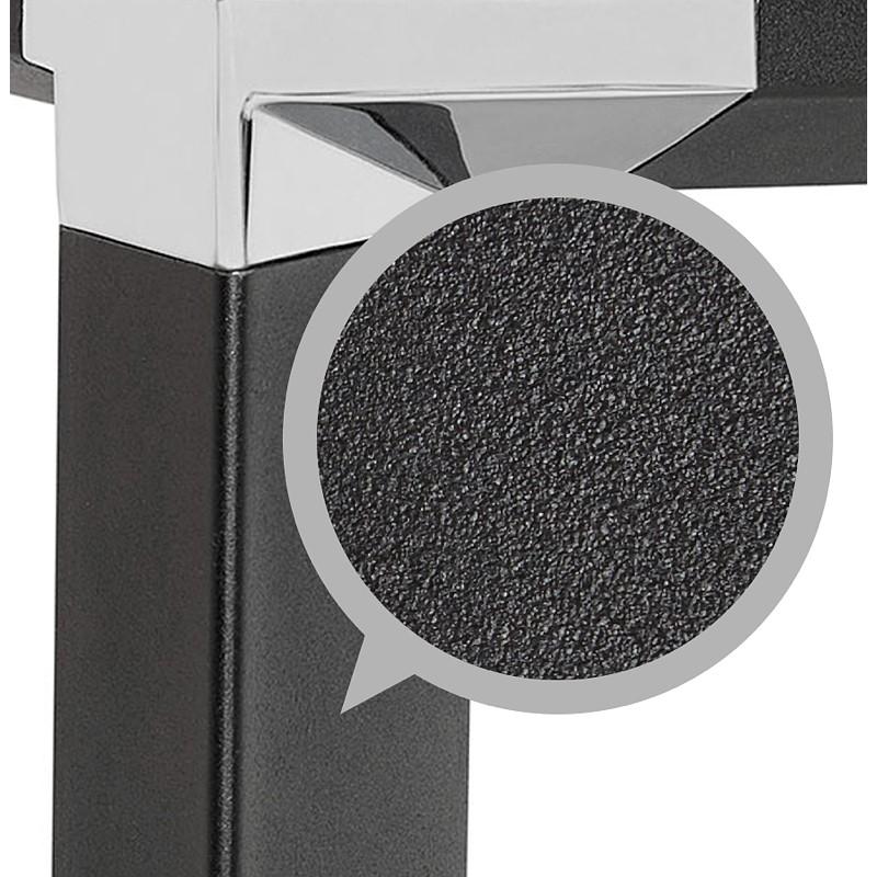 Bureau droit design BOUNY en bois pieds noirs (naturel) - image 40248