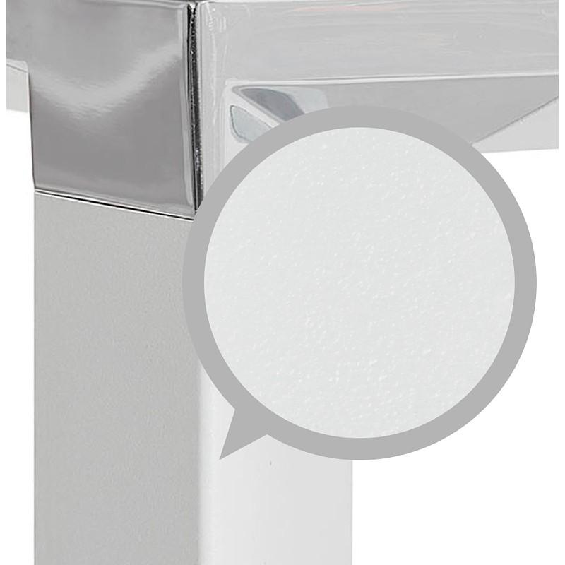Bureau d'angle design CORPORATE en bois pieds blanc (naturel) - image 40260