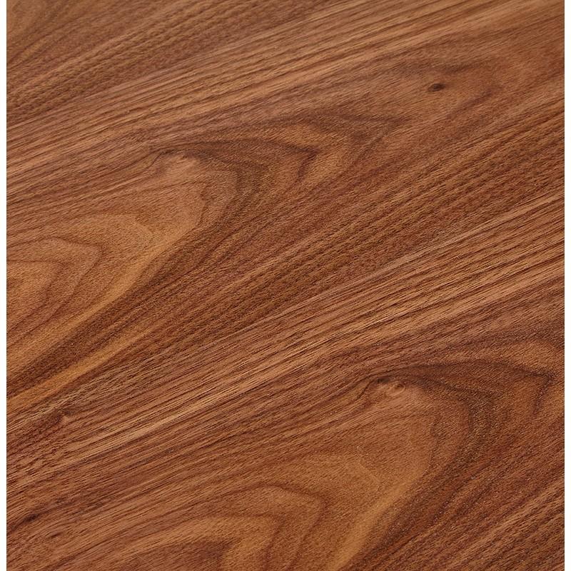 Bureau d'angle design CORPORATE en bois pieds noirs (finition noyer) - image 40275