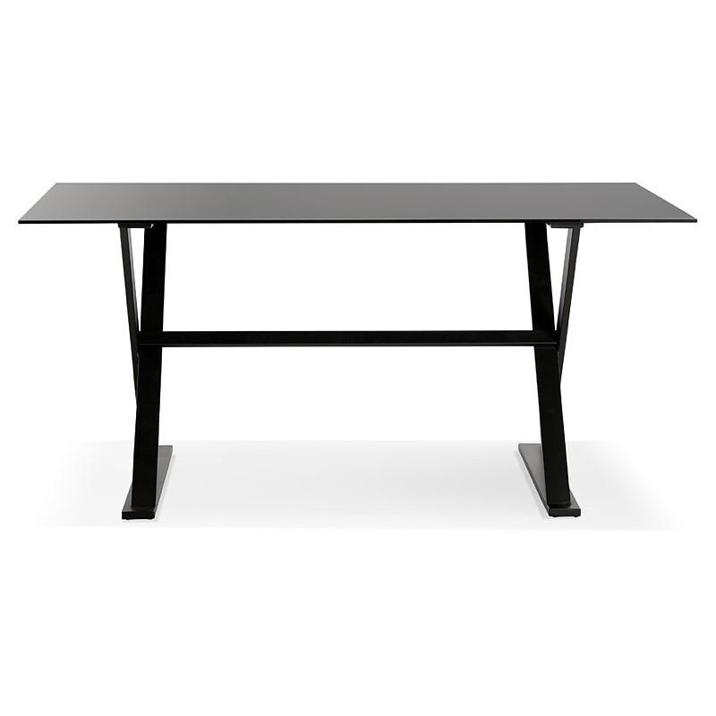 Table à manger design ou bureau (160x80 cm) WENDY en verre (noir) - image 40280