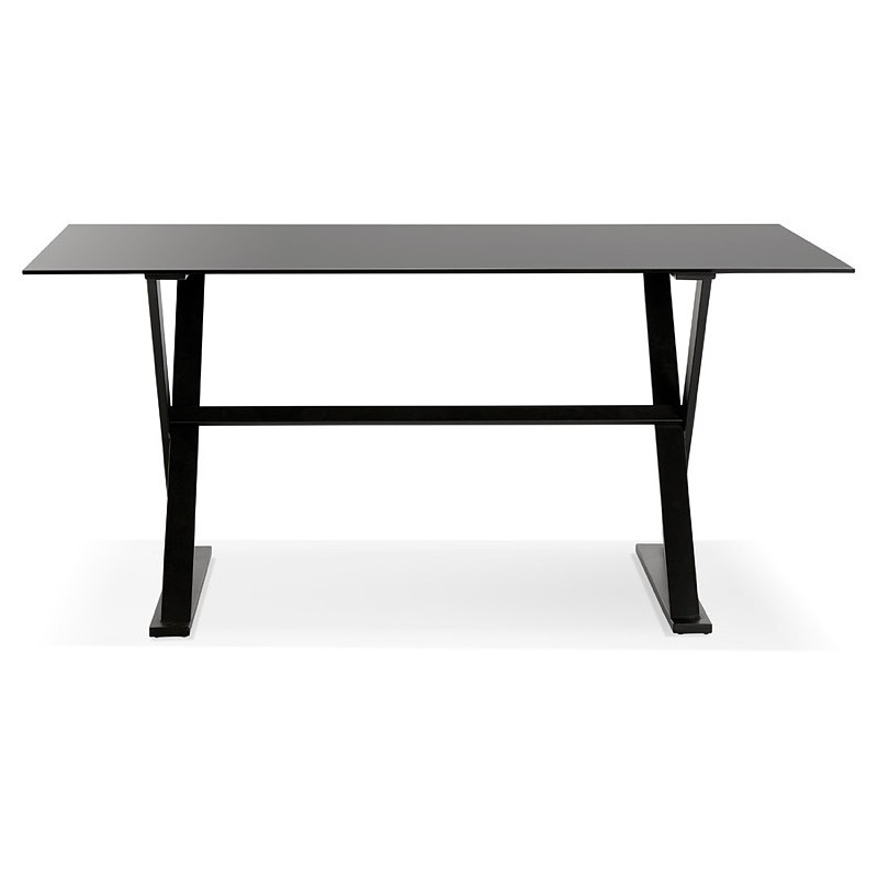 Table design or (160 x 80 cm) WENDY glass desk (black) - Design and  contemporary desks