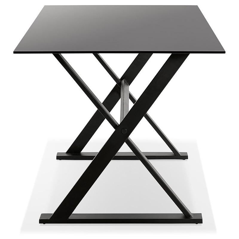 Table à manger design ou bureau (160x80 cm) WENDY en verre (noir) - image 40281