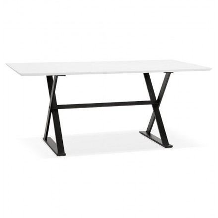 Dining table design or (180 x 90 cm) FOSTINE wooden desk (Matt White)