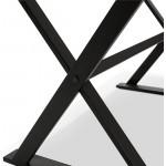Table à manger design ou bureau (180x90 cm) FOSTINE en bois (blanc mat)