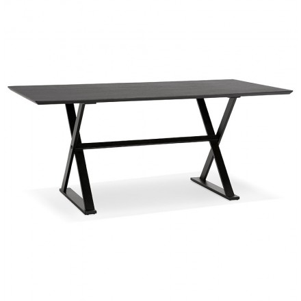 Table design or (180 x 90 cm) FOSTINE wooden desk (black)