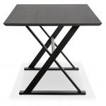 Table à manger design ou bureau (180x90 cm) FOSTINE en bois (noir)