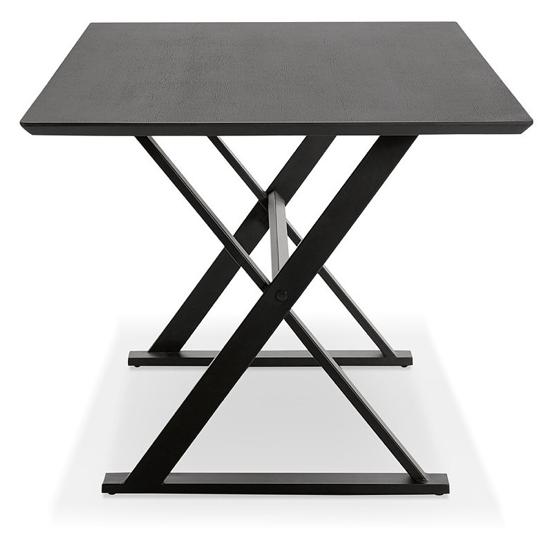 Table à manger design ou bureau (180x90 cm) FOSTINE en bois (noir) - image 40318