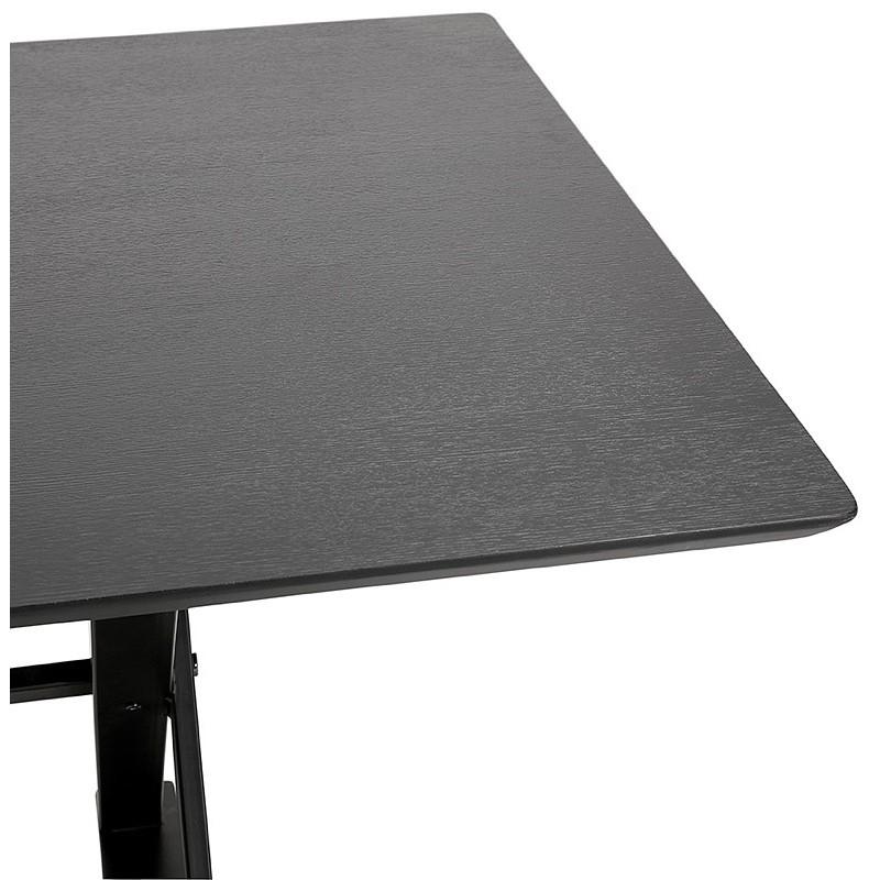 Table à manger design ou bureau (180x90 cm) FOSTINE en bois (noir) - image 40320