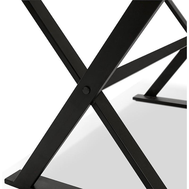 Table à manger design ou bureau (180x90 cm) FOSTINE en bois (noir) - image 40323