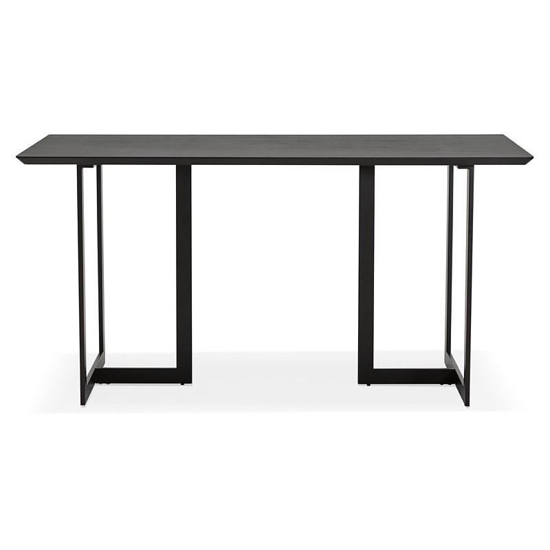 Table à manger design ou bureau (150x70 cm) ESTEL en bois (noir) - image 40337