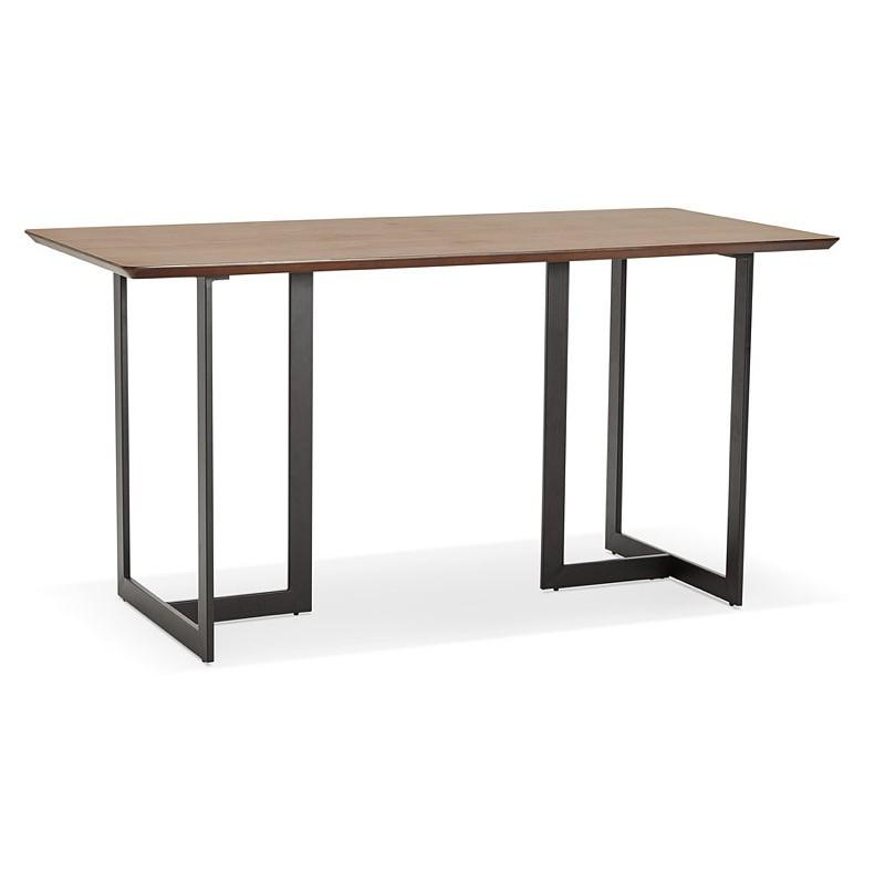 Table à manger design ou bureau (150x70 cm) ESTEL en bois (finition noyer) - image 40355