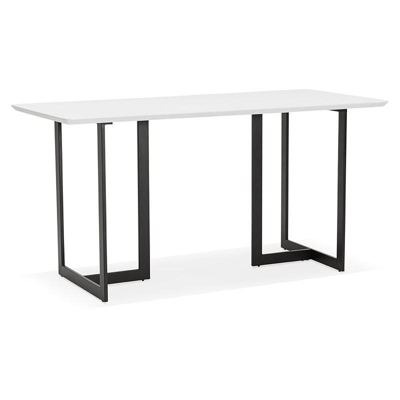 Table à manger design ou bureau (150x70 cm) ESTEL en bois (blanc mat) - image 40365