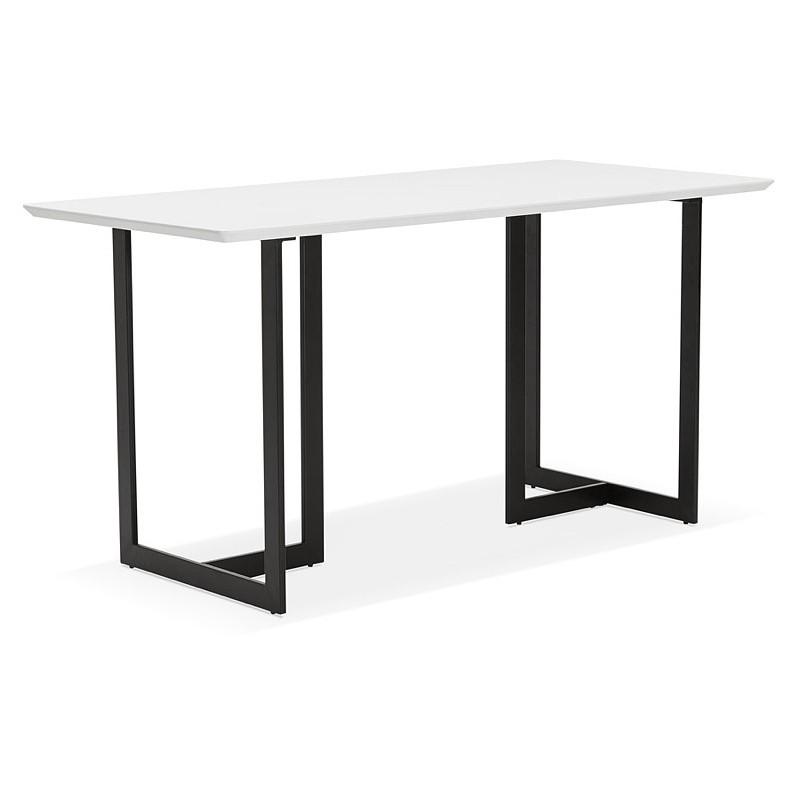 Table à manger design ou bureau (150x70 cm) ESTEL en bois (blanc mat) - image 40368