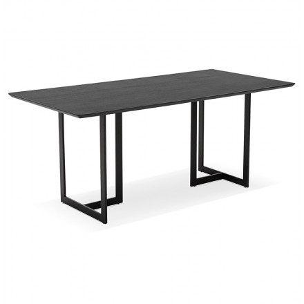 Table design or (180 x 90 cm) Douglas wooden desk (black)