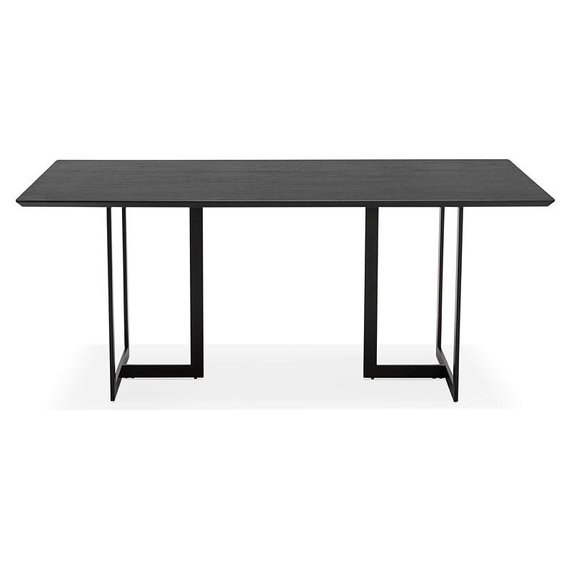 Table à manger design ou bureau (180x90 cm) DRISS en bois (noir) - image 40376