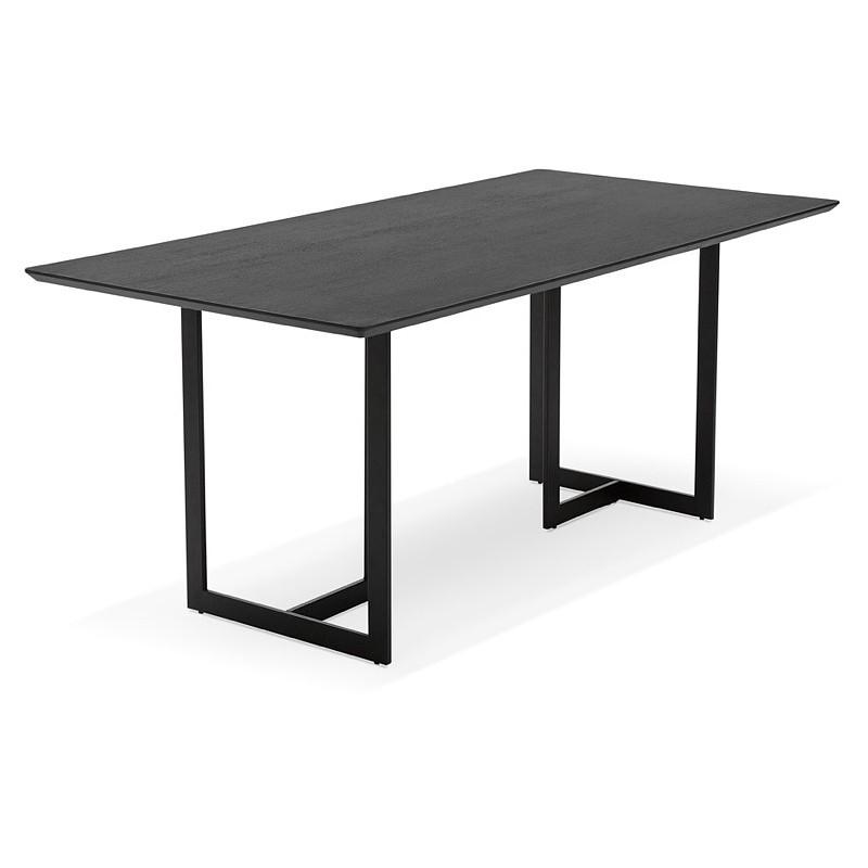 Table à manger design ou bureau (180x90 cm) DRISS en bois (noir) - image 40378