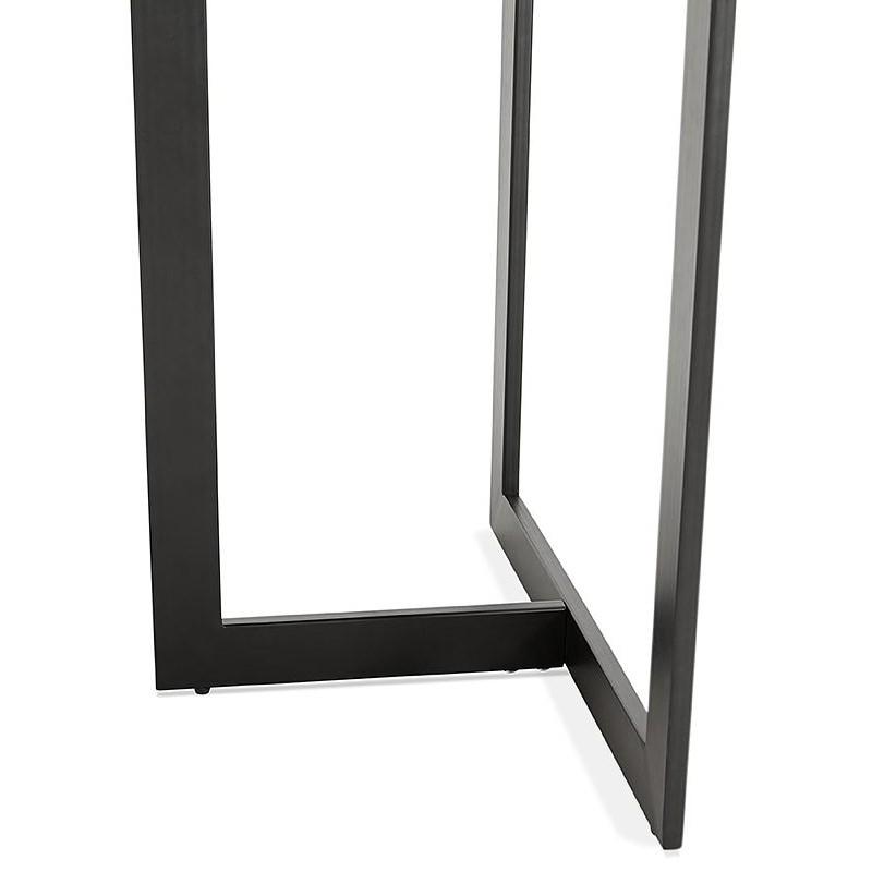 Table à manger design ou bureau (180x90 cm) DRISS en bois (noir) - image 40382