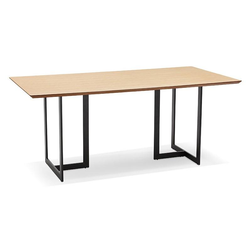 Table à Manger Design Ou Bureau 180x90 Cm Driss En Bois Naturel