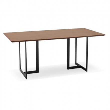 Table design or office (180 x 90 cm) Douglas wooden (Walnut Finish)