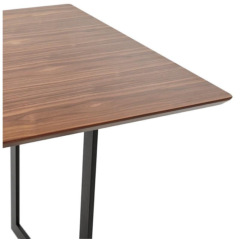 Table à manger design ou bureau (180x90 cm) DRISS en bois (finition noyer) - image 40399
