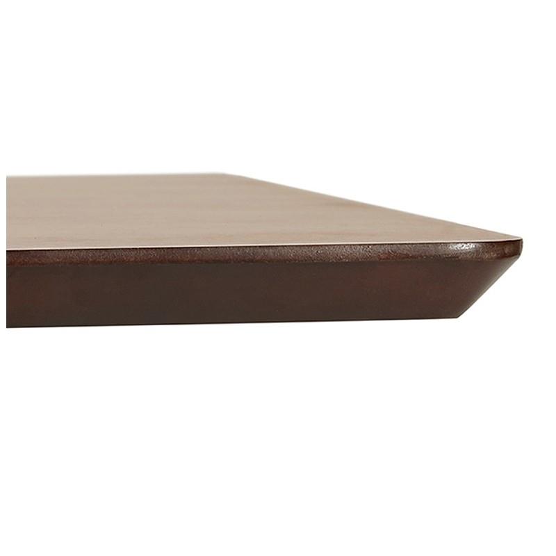 Table à manger design ou bureau (180x90 cm) DRISS en bois (finition noyer) - image 40400