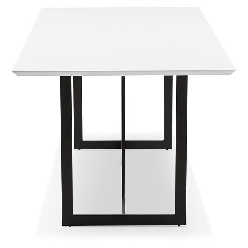 dining table design or 180 x 90 cm douglas wooden desk matt white