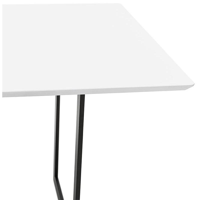 Table à manger design ou bureau (180x90 cm) DRISS en bois (blanc mat) - image 40409