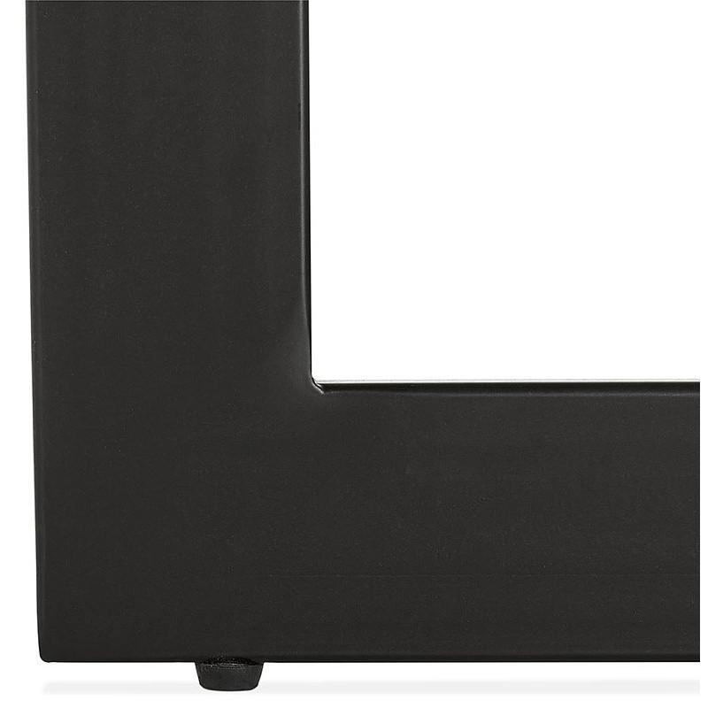 Table à manger design ou bureau (180x90 cm) DRISS en bois (blanc mat) - image 40414