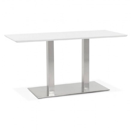 Table à manger design ou table de réunion CORALIE (150x70x75 cm) (blanc)