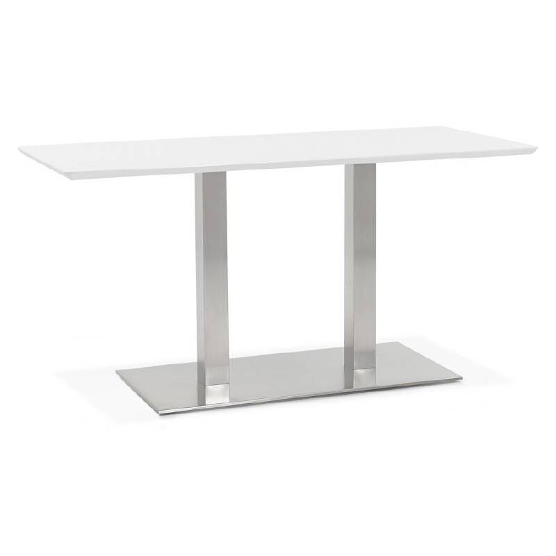 Tavolo design o riunione tavolo CORALIE (150 x 70 x 75 cm) (bianco)