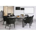 Diseño y silla moderna con brazos ANTONELA (negro) de tela