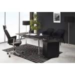 Subwoofer design desk 3 drawers MATHIAS (black) metal