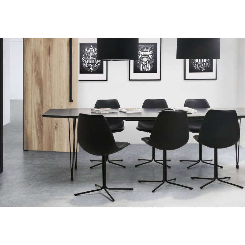 Chaise design OFEN en polyuréthane et métal peint (noir) - image 40431