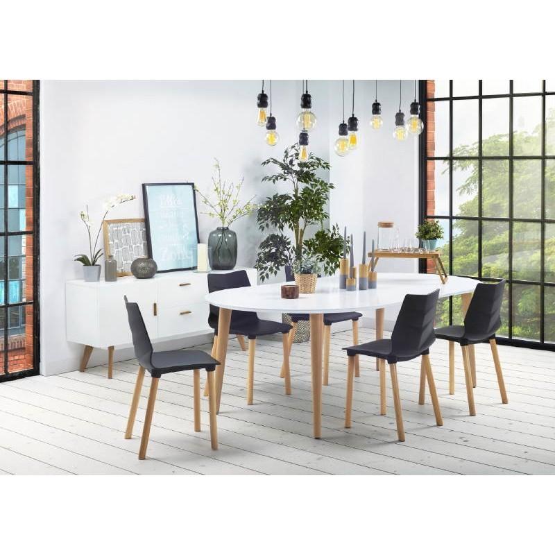 Chaise design scandinave SUEDE (noir)