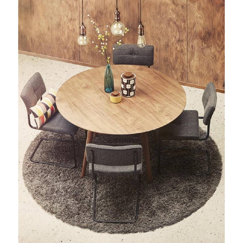 Contemporary rugs and design large round MIKE model (Ø 200 cm) (grey) - image 40439