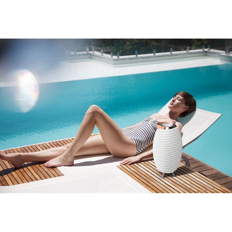 Lampe LED seau à champagne haut-parleur enceinte bluetooth KOODUU SYNERGIE S 35 (blanc) - image 40451