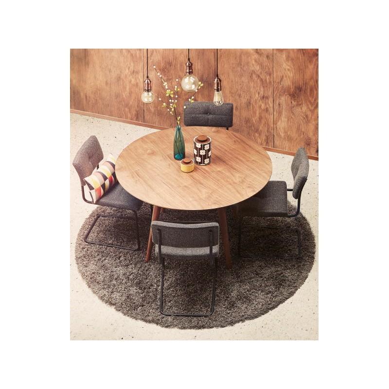 runder esstisch vintage stil skandinavischen sofia 120 cm holz nussbaum. Black Bedroom Furniture Sets. Home Design Ideas