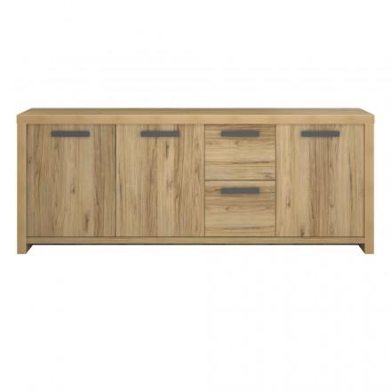 A buffet riga 3 porte 2 cassetti contemporanea ALISON wood (rovere)
