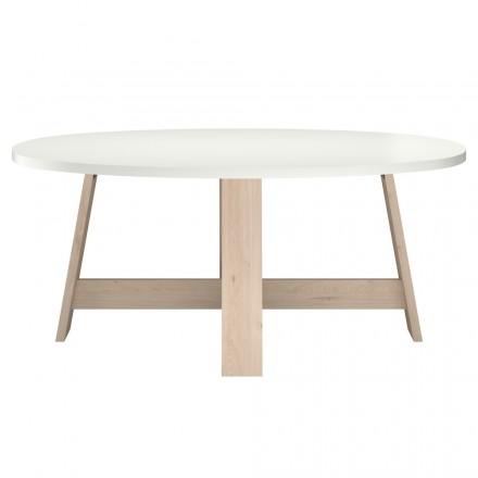 Tisch Oval Skandinavischen Mathilde Weiße Natürlichen Eiche Amp