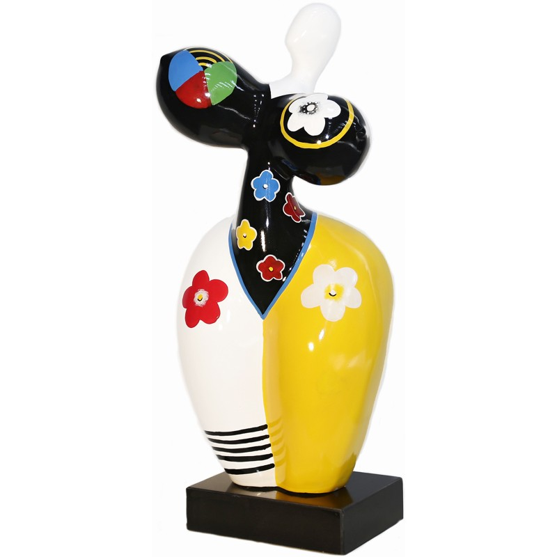 Statue Frau Pop-Art design dekorative Skulptur im Harz H61 (bunten) cm - image 40944