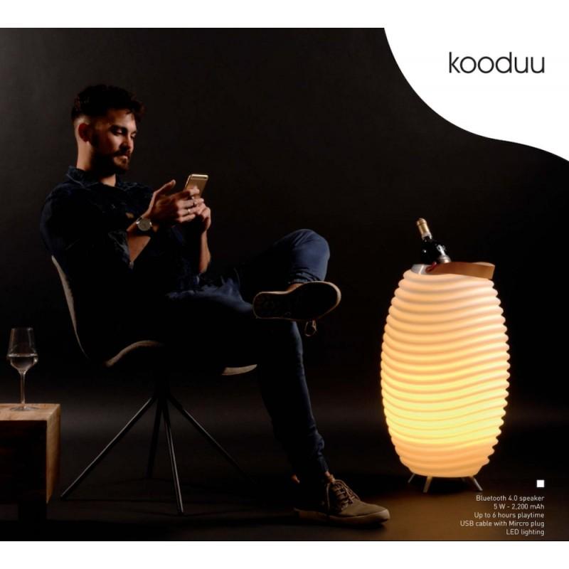 Lampe LED seau à champagne haut-parleur enceinte bluetooth KOODUU SYNERGIE 50 (blanc) - image 40962